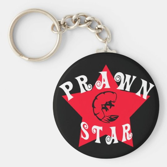 Prawn Star Advanced Basic Round Button Key Ring