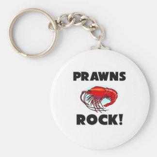 Prawns Rock Basic Round Button Key Ring