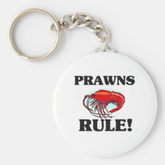 PRAWNS Rule! Basic Round Button Key Ring