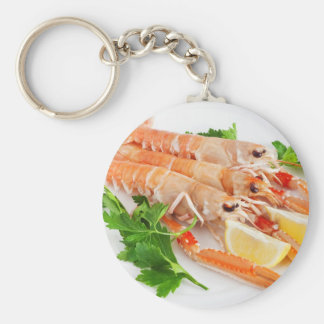 prawns with lemon and parsley key chain