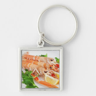 prawns with lemon and parsley key chain