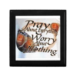 Pray About Everything Jewelry Box