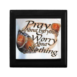 Pray About Everything Small Square Gift Box