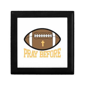 Pray Before Small Square Gift Box
