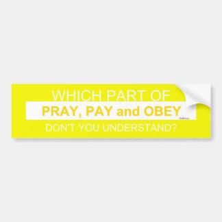 Pray Bumper Sticker