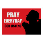 Pray Every Day Poster
