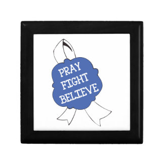 PRAY FIGHT BELIEVE SMALL SQUARE GIFT BOX