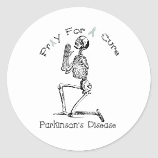 Pray For A Cure-Parkinson's Disease Round Sticker