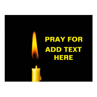 Pray For Add Text Postcard