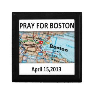 Pray For Boston Map Trinket Boxes