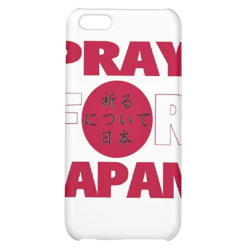 """""""Pray For Japan"""" 日本のために祈る Relief Shirt iPhone 5C Cases"""