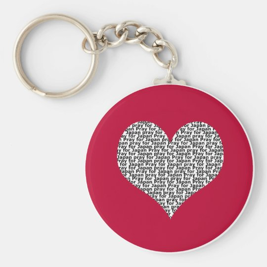 Pray for Japan round keychain