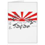Pray for Japan with the Rising Sun Greeting Cards