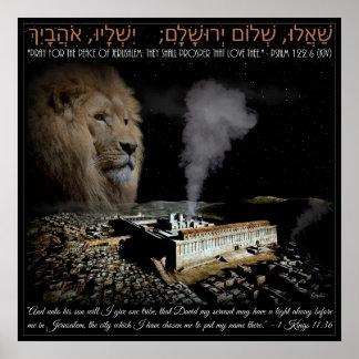 Pray For Jerusalem Poster