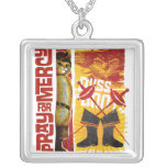 Pray for Mercy (red) Square Pendant Necklace