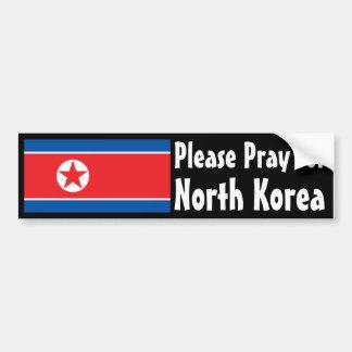 Pray for North Korea Bumper Sticker
