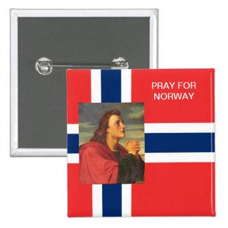PRAY FOR NORWAY 15 CM SQUARE BADGE