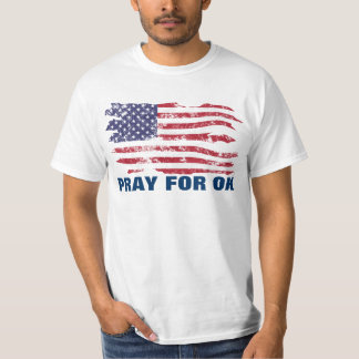 Pray For OK U.S. Flag Oklahoma T-shirt