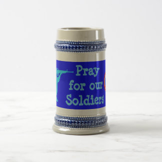 pray for our soldiers stein beer steins