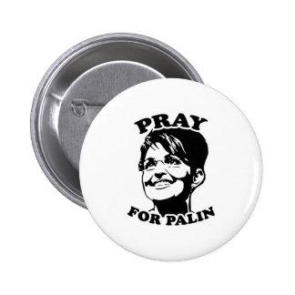 Pray for Palin 6 Cm Round Badge