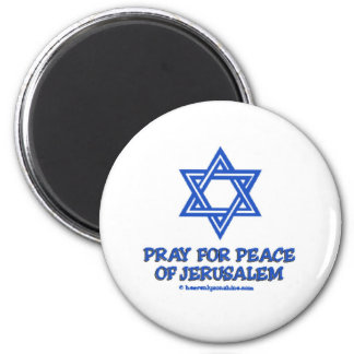 Pray for Peace of Jerusalem 6 Cm Round Magnet