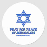 Pray for Peace of Jerusalem Round Sticker