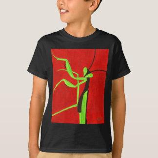 """""""Pray For Peace"""" red & green Praying Mantis T-Shirt"""