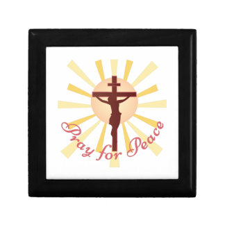 Pray For Peace Small Square Gift Box