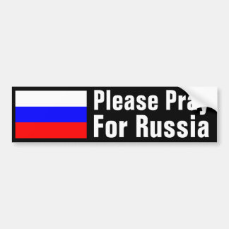 Pray for Russia Bumper Sticker