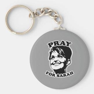 Pray for Sarah Basic Round Button Key Ring