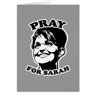Pray for Sarah Greeting Card
