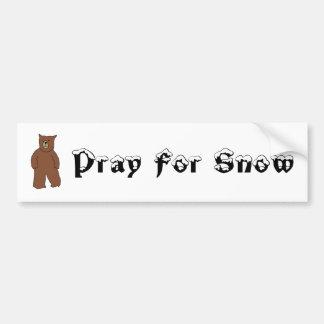 Pray For Snow Bumper Stickers