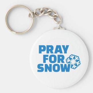 Pray for snow keychain