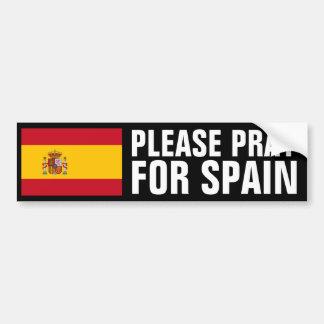 Pray for Spain Bumper Sticker
