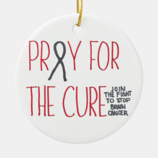 Pray for the Cure Brain Cancer Awareness Ornament