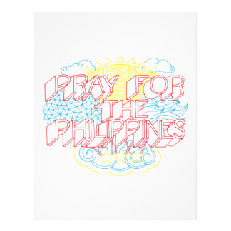 Pray for the Philippines Custom Flyer