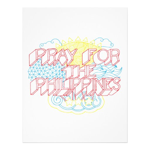 Pray for the Philippines Custom Flyer