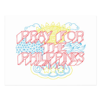 Pray for the Philippines Postcard