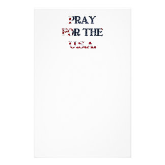 Pray for the U S A Stationery