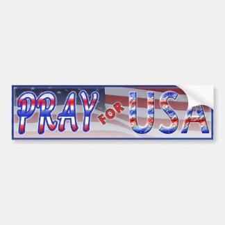 Pray for USA Bumper Sticker Car Bumper Sticker