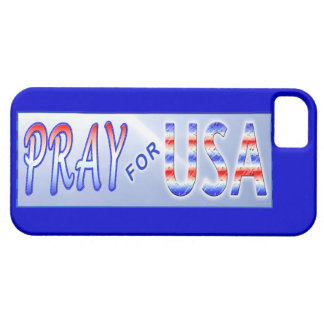 Pray for USA Patriotic iPhone 5 Cover Case For iPhone 5/5S