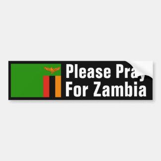 Pray for Zambia Bumper Stickers