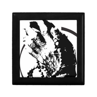 pray grime lab hands small square gift box