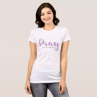 Pray Purple Glitter T-Shirt
