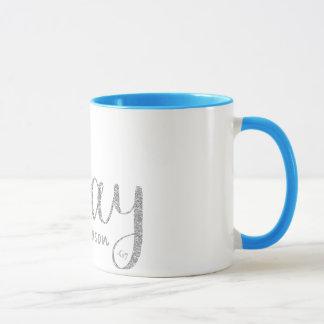 Pray Silver Glitter and Grey Mug