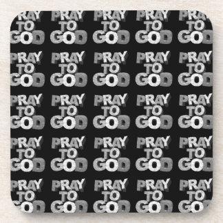 Pray To God Beverage Coaster