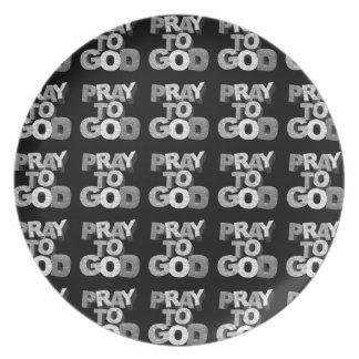 Pray To God Plates