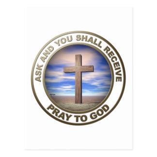 Pray To God Postcard