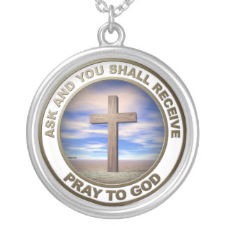Pray To God Round Pendant Necklace