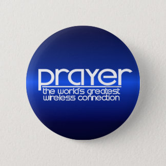 PRAYER 6 CM ROUND BADGE